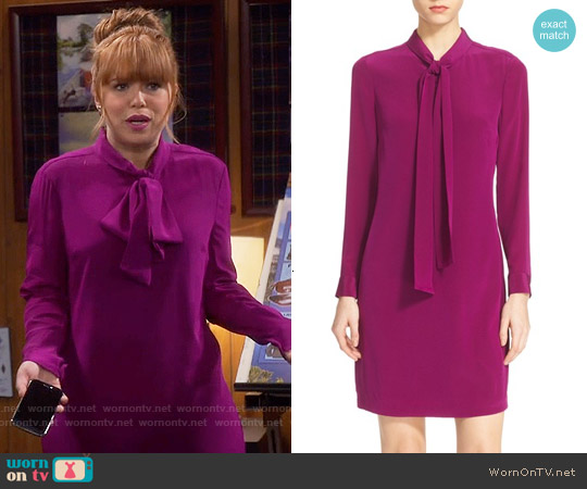 Ted Baker 'Yanka' Bow Silk Tunic Dress worn by Amanda Fuller on Last Man Standing