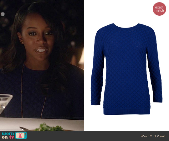 Ted Baker Yayoi Sweater worn by Aja Naomi King on HTGAWM