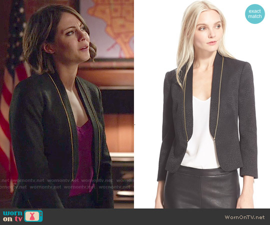 Ted Baker Zip Detail Suit Jacket worn by Willa Holland on Arrow