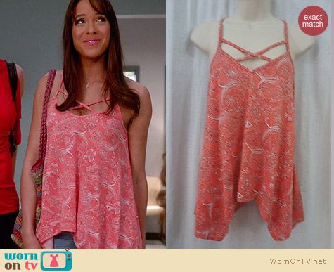 Teen Vogue for MStyleLab Paisley Asymmetric Hem Tank worn by Dania Ramirez on Devious Maids