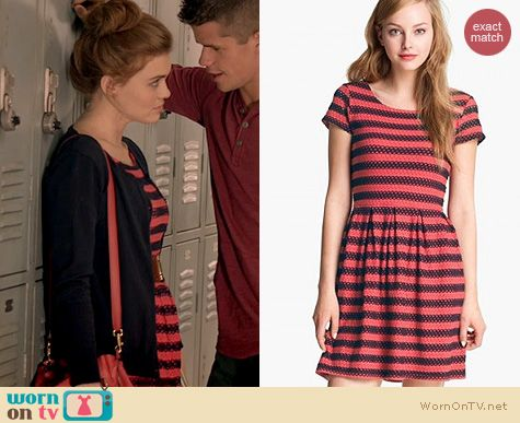 Teen Wolf Fashion: Eight Sixty Eyelet stripe dress worn by Holland Roden