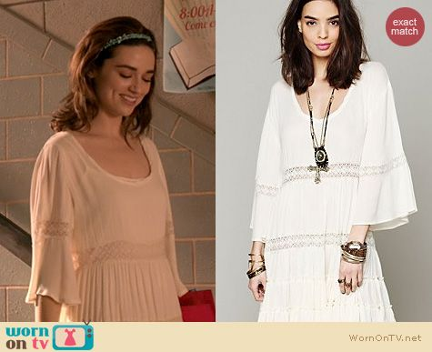 Teen Wolf Fashion: Free People Daisy Lace Dress worn by Crystal Reed