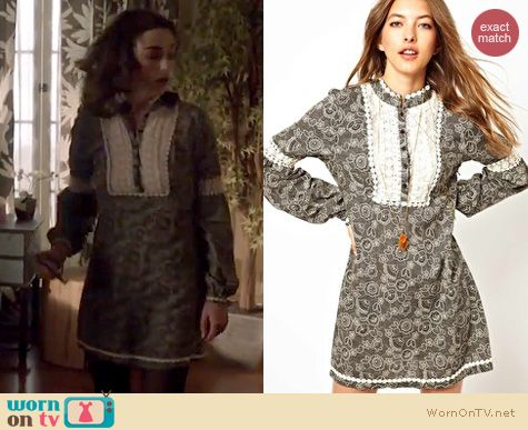 Teen Wolf Fashion: Free People Tribal Grunge dress worn by Crystal Reed