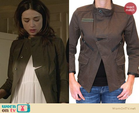 Teen Wolf Fashion: G Star Crusader Overshirt worn by Crystal Reed
