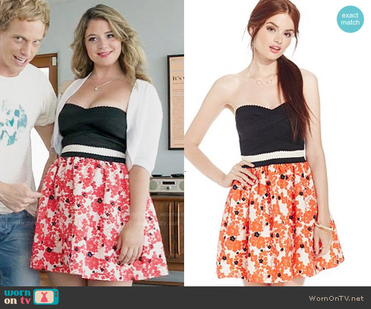 Teeze Me Strapless Bandage Top Floral Skirt Dress worn by Kether Donohue on You're the Worst