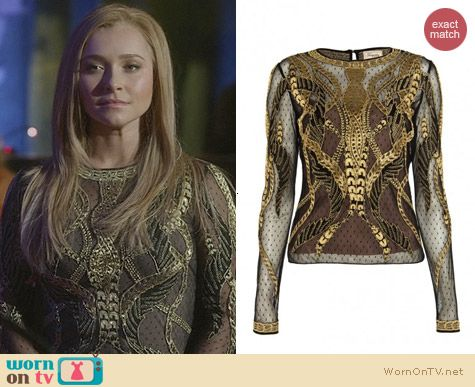 Temperley London Aya Show Top worn by Hayden Panettiere