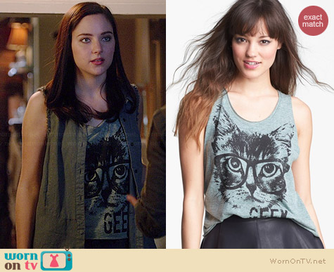 Ten Sixty Sherman Hipster Kitty Tank worn by Haley Ramm on Chasing Life