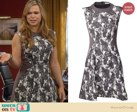 Thakoon Addition Brocade Dress worn by Amanda Fuller on Last Man Standing
