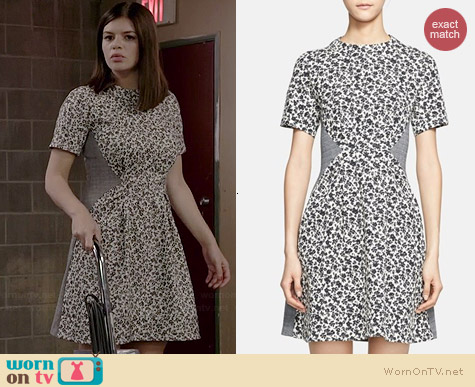 Thakoon Addition Floral Fit & Flare Dress worn by Casey Wilson on Marry Me