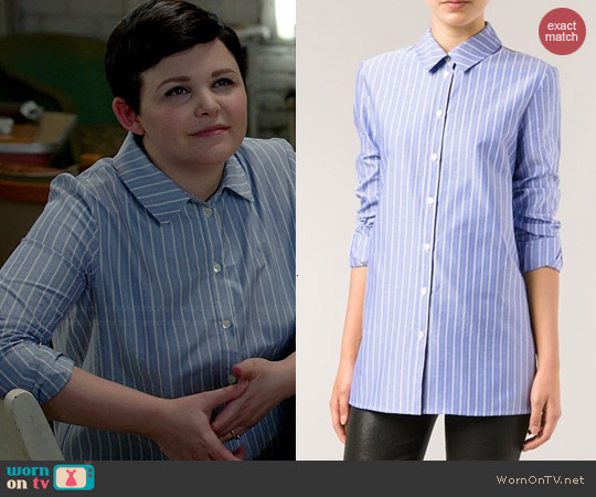Thakoon Striped Shirt worn by Ginnifer Goodwin on OUAT