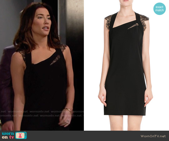 The Kooples Cocktail Dress with Lace Sleeves worn by Jacqueline MacInnes Wood on The Bold & the Beautiful