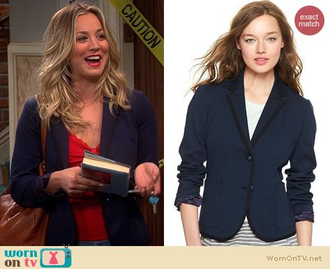 The Big Bang Theory Fashion: GAP Ponte Academy Blazer worn by Kaley Cuoco