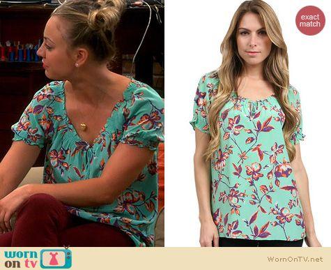 The Big Bang Theory Fashion: Joie Masha top in Julep worn by Kaley Cuoco