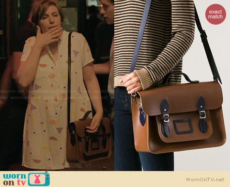 The Cambridge Satchel Company Leather Satchel worn by Lena Dunham on Girls