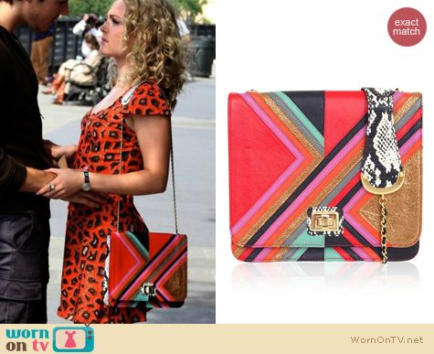 The Carrie Diaries Bags: Angel Jackson Graphic Satchel worn by AnnaSophia Robb