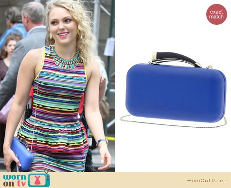 The Carrie Diaries Bags: Vince Camuto Blue Horn Clutch worn by AnnaSophia Robb