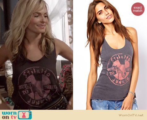 The Carrie Diaries Clothes: Junk Food Stiletto Junkie Tank worn by Samantha Jones