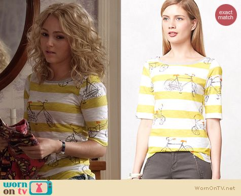 The Carrie Diaries Fashion: Anthropologie Daydreamer Tee worn by AnnaSophia Robb
