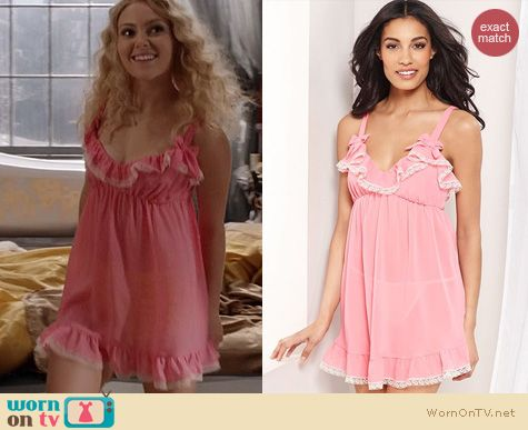 The Carrie Diaries Fashion: Flora by Flora Nikrooz Ruffled Babydoll worn by Carrie Bradshaw