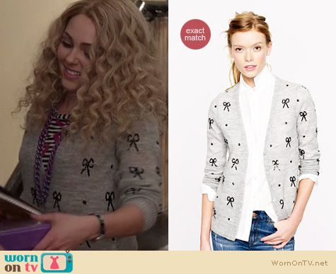The Carrie Diaries Fashion: Sequin bow cardigan by J. Crew worn by AnnaSophia Robb