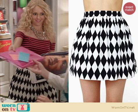 The Carrie Diaries Fashion: Nasty Gal Diamond Cut Skater Skirt worn by AnnaSophia Robb