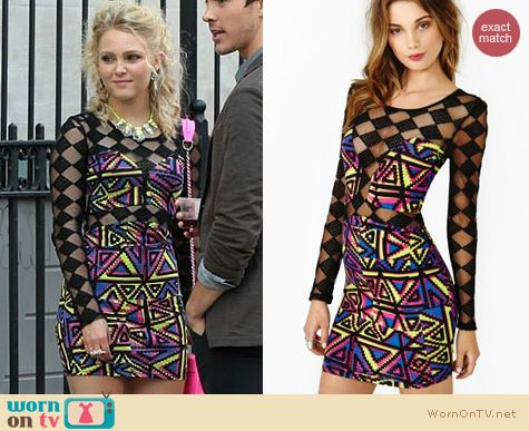 The Carrie Diaries Fashion: Nasty Gal Electric Sound Dress worn by AnnaSophia Robb