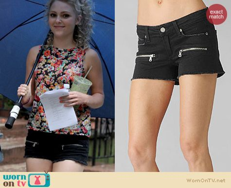 The Carrie Diaries Fashion: Paige Indio Denim Shorts worn by AnnaSophia Robb