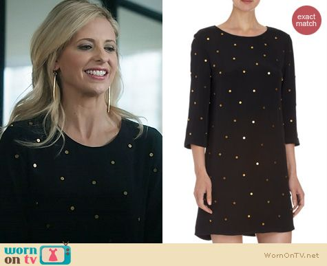 The Crazy Ones Fashion: Saloni Marie Studded Dress worn by Sarah Michelle Gellar