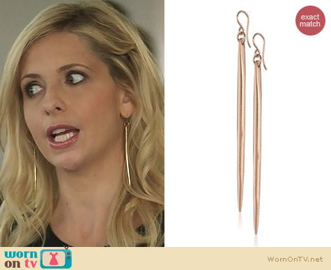 The Crazy Ones Jewelry: Heather Hawkins Dagger Earrings worn by Sarah Michelle Gellar