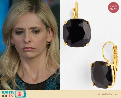 The Crazy Ones Jewelry: Kate Spade Square Drop Earrings worn by Sarah Michelle Gellar