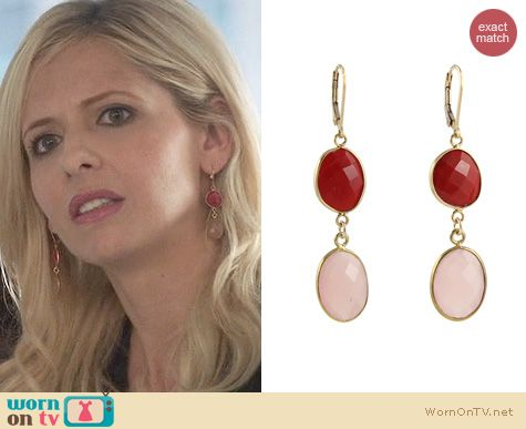 The Crazy Ones Jewelry:  Peggy Li Rosy Reds Earrings worn by Sarah Michelle Gellar