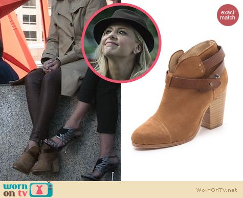 The Crazy Ones Shoes: Rag & Bone Harrow Bootie worn by Sarah Michelle Gellar