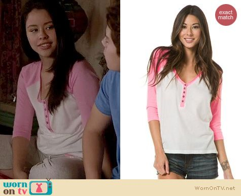 The Fosters Fashion: Billabong The Relay Henley tee worn by Cierra Ramirez
