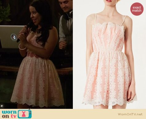 The Fosters Fashion: Topshop Strappy Lace Prom Dress worn by Cierra Ramirez