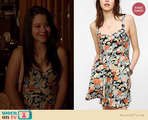 The Fosters Fashion: Urban Outfitters Kimchi Blue smocked dress worn by Cierra Ramirez