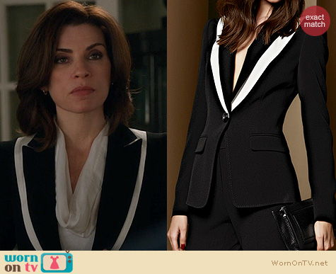 The Good Wife Fashion: Escada Fall/Winter 2013 Black and white Blazer worn by Alicia