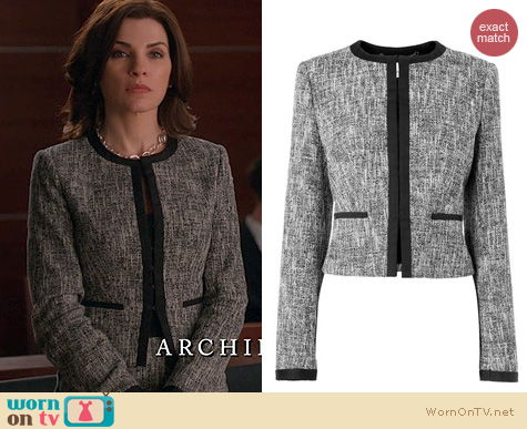 Fashion of The Good Wife: L.K. Bennett Julie Jacket worn by Alicia Florrick