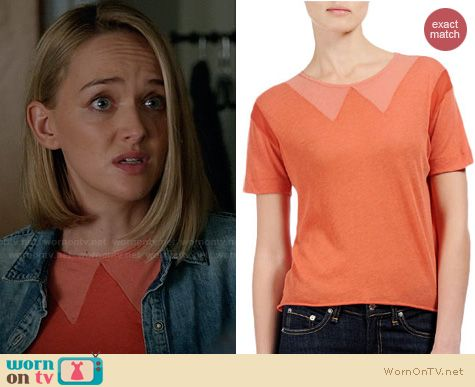The Good Wife Fashion: Rag & Bone Vitti Tee worn by Jess Weixler