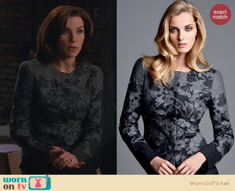 The Good Wife Fashion: Rena Lange Jacket worn by Alicia Florrick