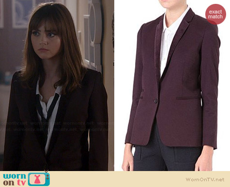 The Kooples Blazer with Velvet Lapel worn by Jenna Coleman on Doctor Who