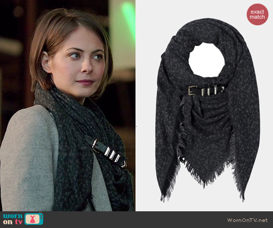 The Kooples Freckle Belt Print Scarf worn by Willa Holland on Arrow