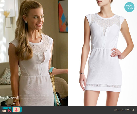 The Kooples Lace Trim Cap Sleeve Dress worn by Brooke D'Orsay on Royal Pains