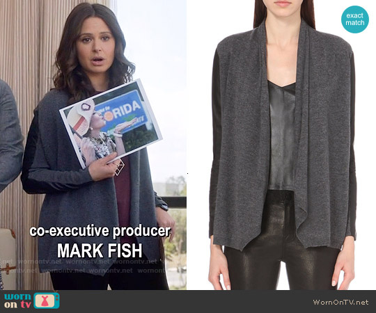 The Kooples Wool and Cashmere-blend Cardigan worn by Katie Lowes on Scandal