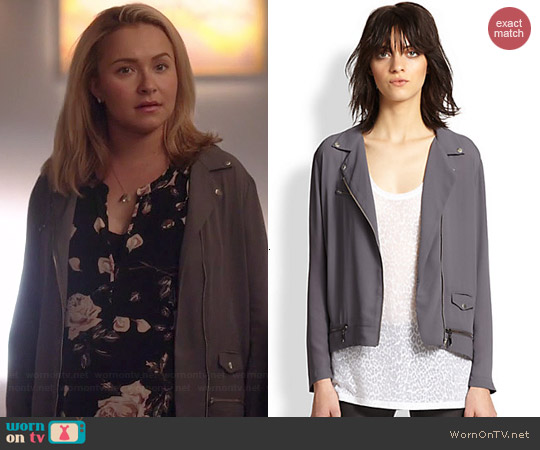 The Kooples Lightweight Crepe Moto Jacket worn by Hayden Panettiere on Nashville