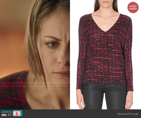 The Kooples Silk Blend Jumper worn by Willa Holland on Arrow