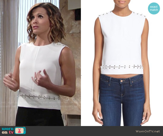 The Kooples Ring Embellished Top worn by Melissa Claire Egan on The Young & the Restless