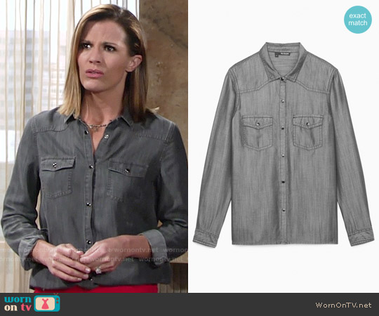 The Kooples Tencel Shirt worn by Melissa Claire Egan on The Young & the Restless