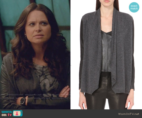 The Kooples Wool and Cashmere-blend Cardigan worn by Quinn Perkins on Scandal