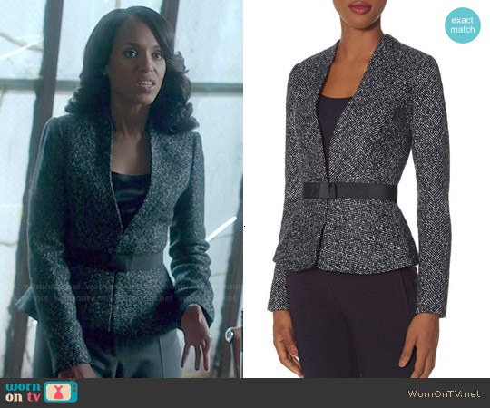 The Limited Scandal Collection Belted Peplum Jacket worn by Kerry Washington on Scandal