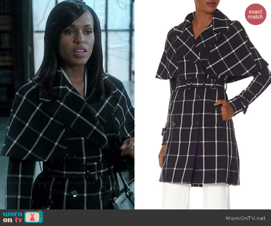 The Limited Check Trench Coat worn by Kerry Washington on Scandal